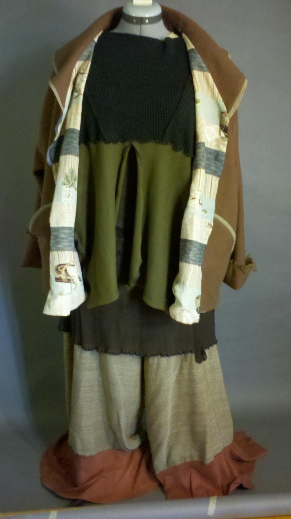 Kimono lined Swing Jacket