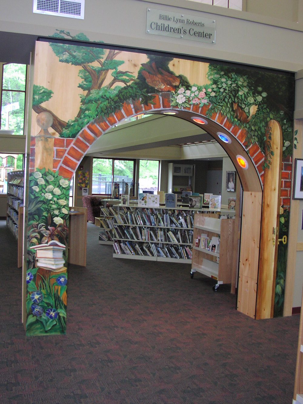 Arch murals for Madison County Public Library in Marshall
