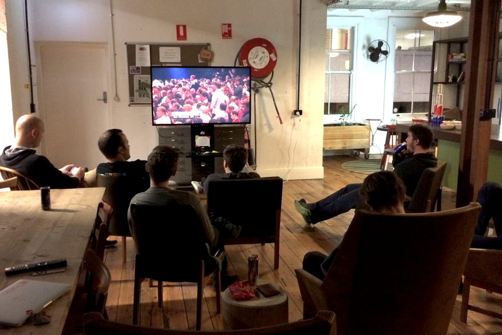 Watching the Keynote at Hub Adelaide at an hour only for the somewhat diehard