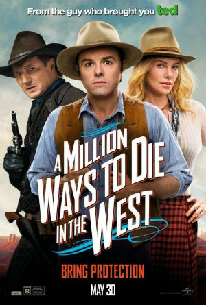 A Million Ways to Die in the West poster. Licensed under Fair use via Wikipedia.