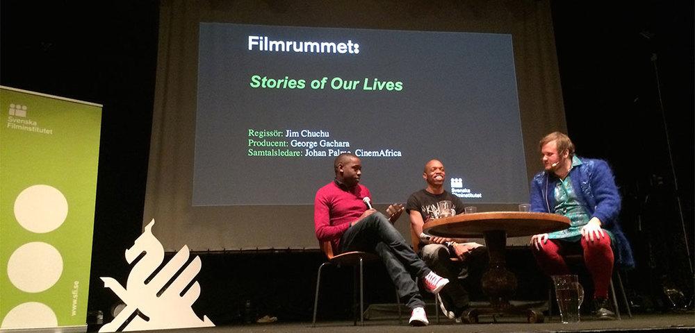 Speaking at the Goteborg Film Festival. No nerves at all!