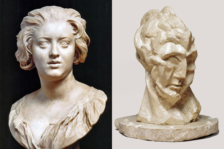 At left is a bust of Costanza Bonarelli by Gianlorenzo Bernini, circa 1635—a masterwork of representational sculpture. At right is a sculpture from Pablo Picasso's Cubist period called Head of a Woman, circa 1909. Both are powerful and affecting works, but they deliver their impact in fundamentally different ways. Whereas a movie like Gone Girl benefits from David Fincher's Bernini-esque hyper-reality, Interstellar is more in the vein of Picasso's visceral symbolism.