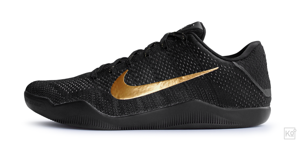 figure 4. As you can see clearly in this image, the Kobe XI Elite is very much a true low-top. And yet, thanks to the exceptional containment provided by its upper, its relatively low-profile midsole and its artfully designed outsole—complete with outriggers alongside the lateral forefoot and cuboid regions of the foot—it feels reassuringly stable during hard cuts.