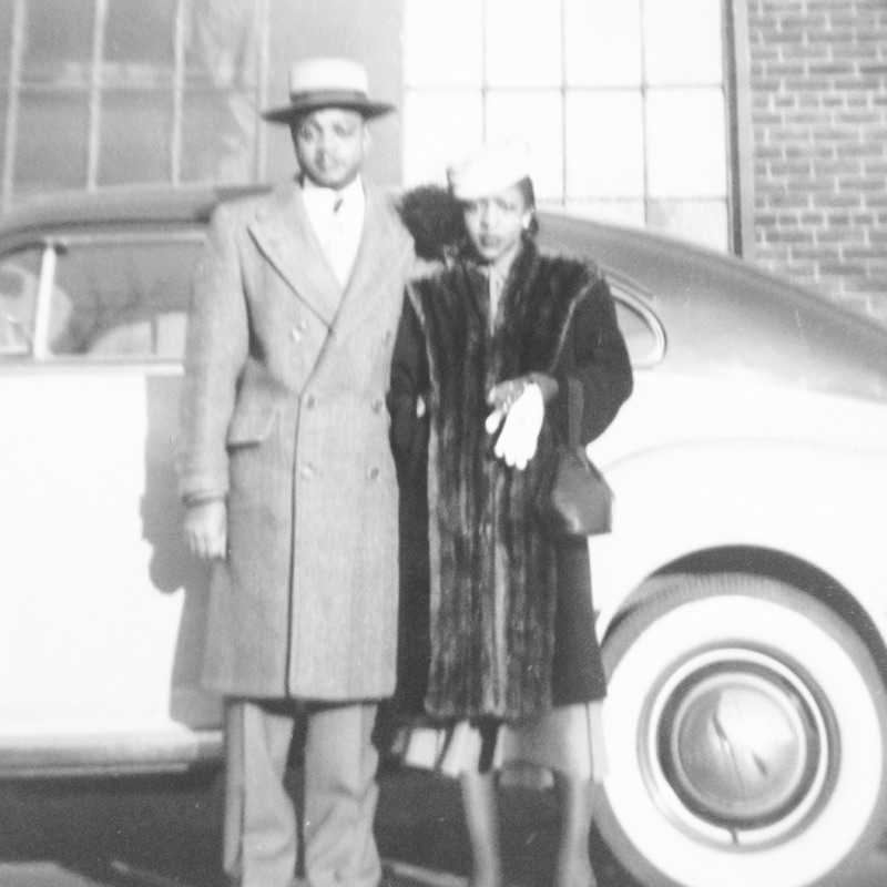 """This photo is of my grandparents, Mr. William Hayes and Mrs. Effie Hayes. My granddad is 94 and loves to say, """"I'm alive and kickin', just not that high""""."""