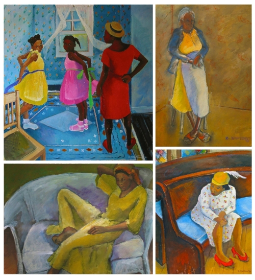 Black Woman_FigurativePaintingsArt_BTolerTurner Various Artworks and Paintings by my mother depicting colorful images of black women and girls through her lens / point-of-view