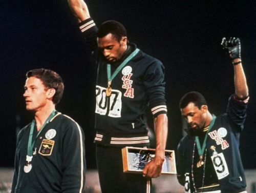 When I think of Black history, I think of this iconic photo of Tommie Smith and John Carlos giving the Black Power salute at the 1968 Olympics.