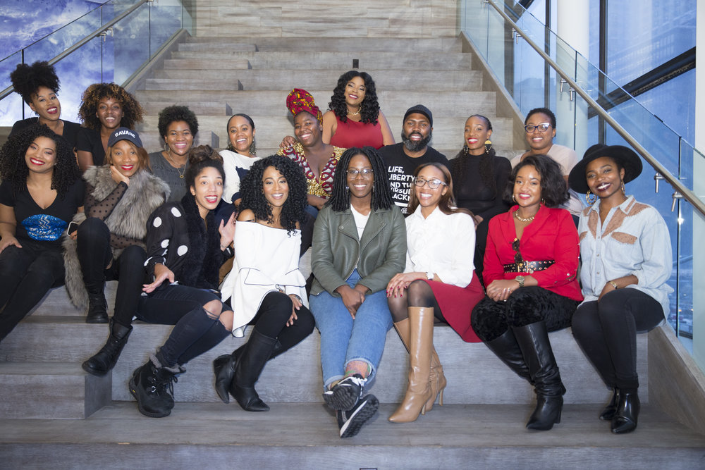 A group of black owned business owners that I curated for my Shop LoveBrownSugar event