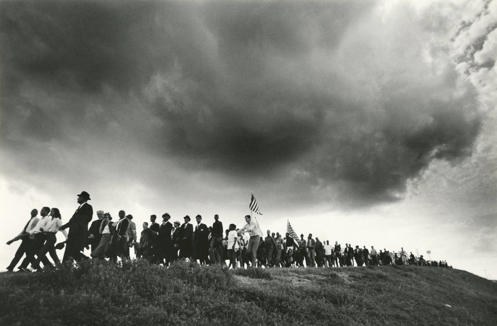 The image above by James Karales, Selma-to-Montgomery March for Voting Rights in 1965, 1965. This image inspires me because there is so much power in one candid shot. This one image is a complete story in itself. So much hope and power in one shot.