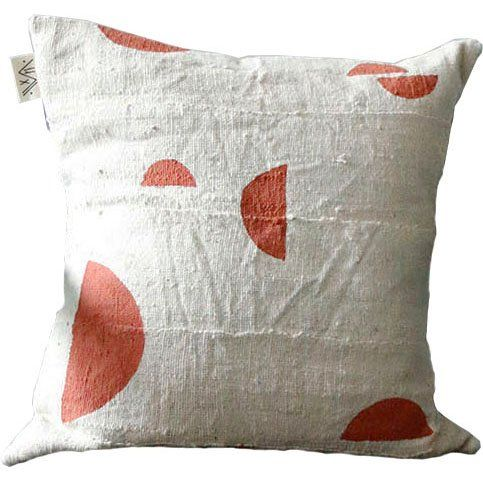 Zori Half Moon Bogolan Pillow Cover (de)constructed Pillow