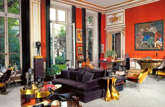 1976 Paris living room of designer Henri Samuel