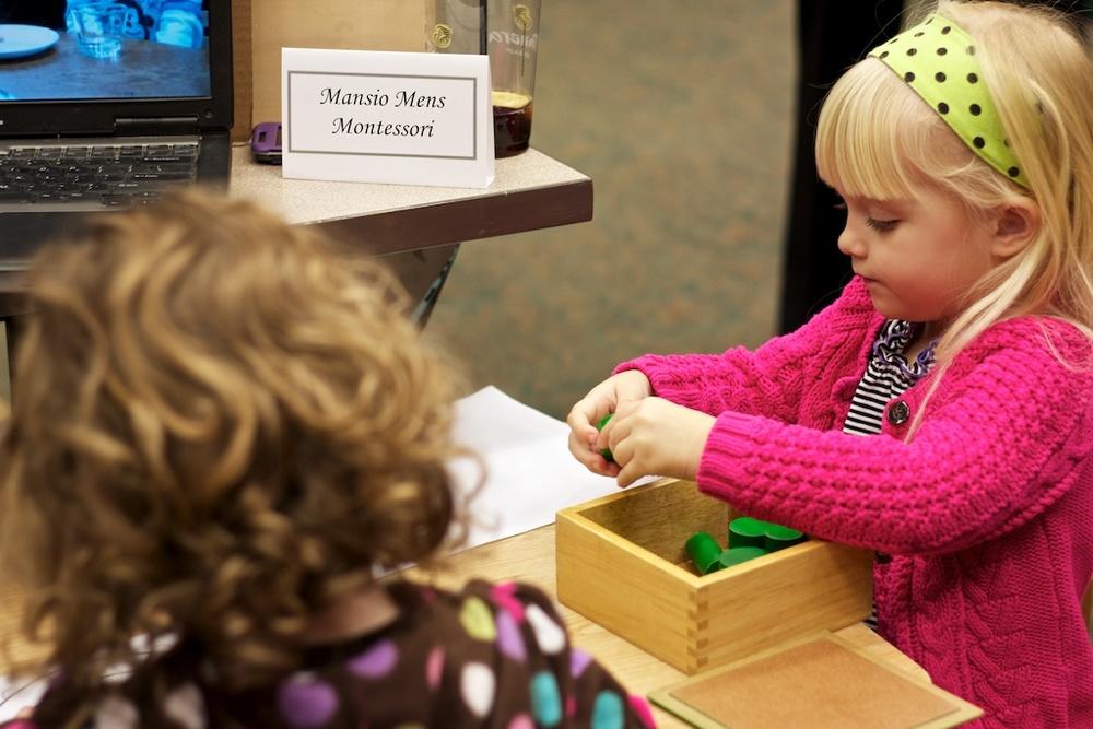 Hannah demonstrating works