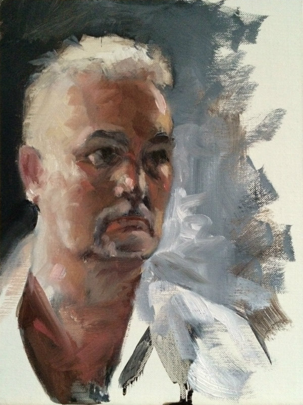 Portrait Study Oil on linen panel.