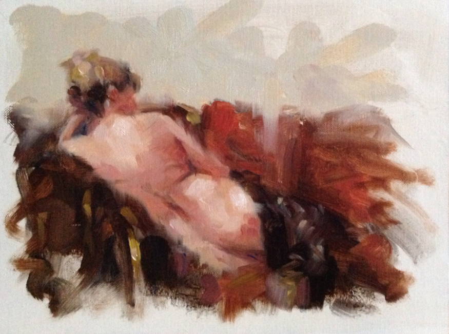 Nude #1 Oil on linen panel.