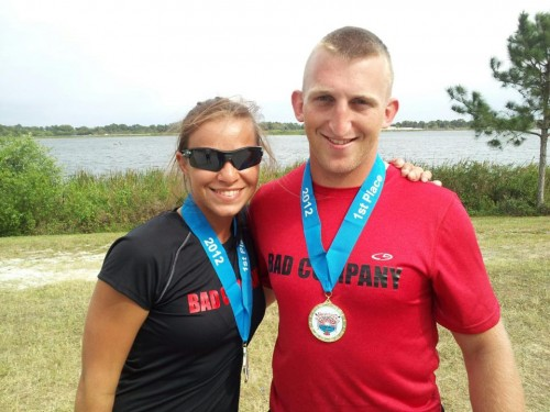 Oksana Masters and Rob Jones at the 2012 Sarasota Invitational Regatta.