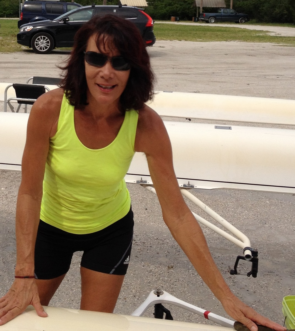 Debby Sirpilla stands ready, sponge in hand, to clean the boats and always helps the team with a cheerful smile and an encouraging word.