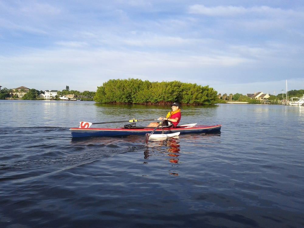 Jack Gerber rowing his adaptive single at the 2012 Sarasota 5000!