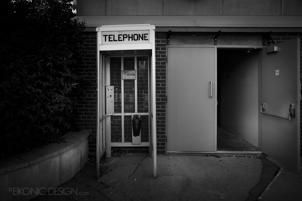 You never see phone booths anymore.  At the time this seemed interesting...