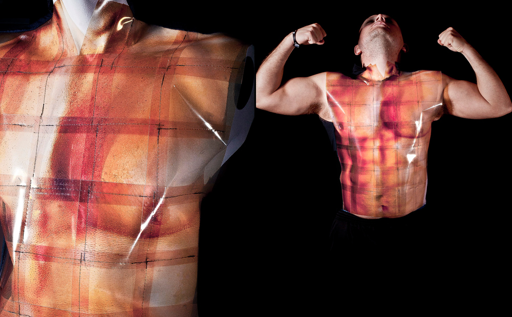 "Embodiment 2010 Garment Construction: Tshirt constructed out of custom-made ink jet print ""textile"""
