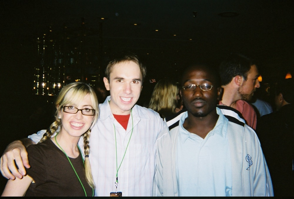 Me with my comedian buddies Lizzy Cooperman and Hannibal Buress at the Just For Laughs Comedy Festival (2006)