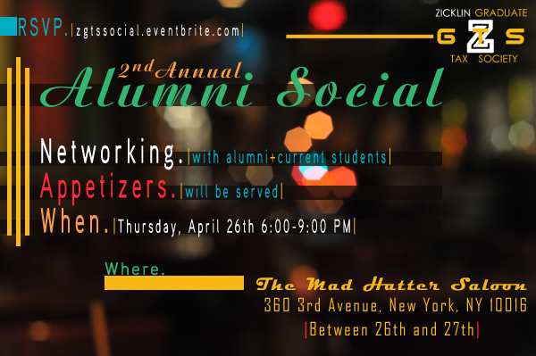 ZGTS - 2nd Alumni Social Flyer