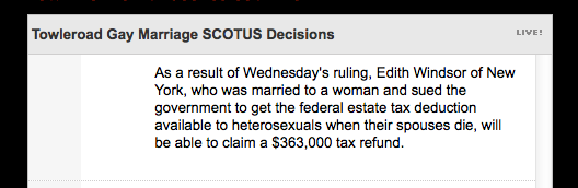 Reporting on SCOTUS decision to strike down DOMA by Reuters, via @tlrd
