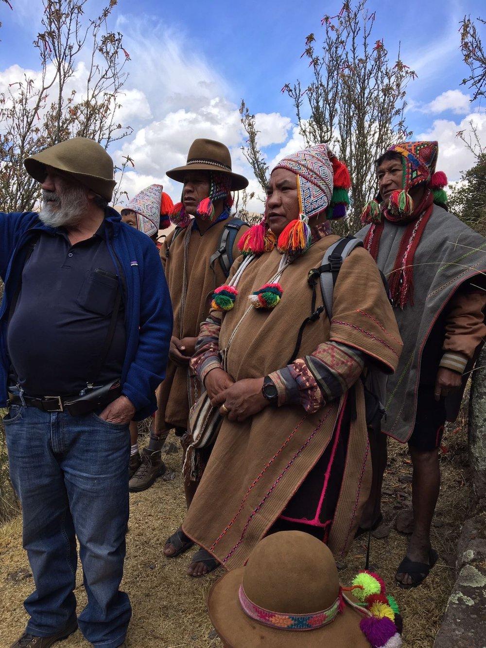 Juan Nuñez Del Prado and Qero Paqos preparing for ceremony