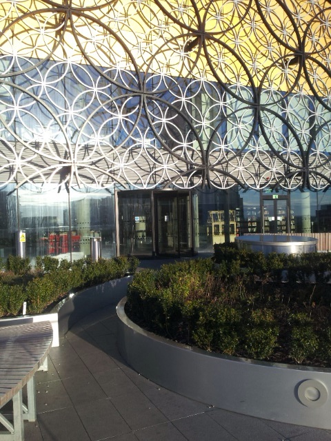 Roof garden in Birmingham library