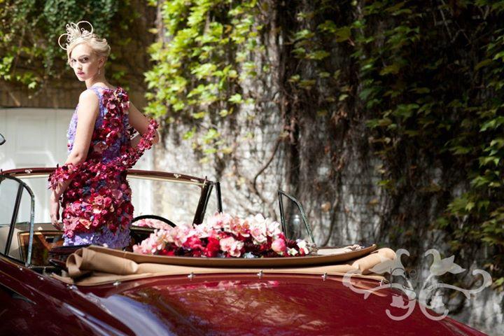 Beauty in a Bentley in Belgravia. Photographed by John Nassari.