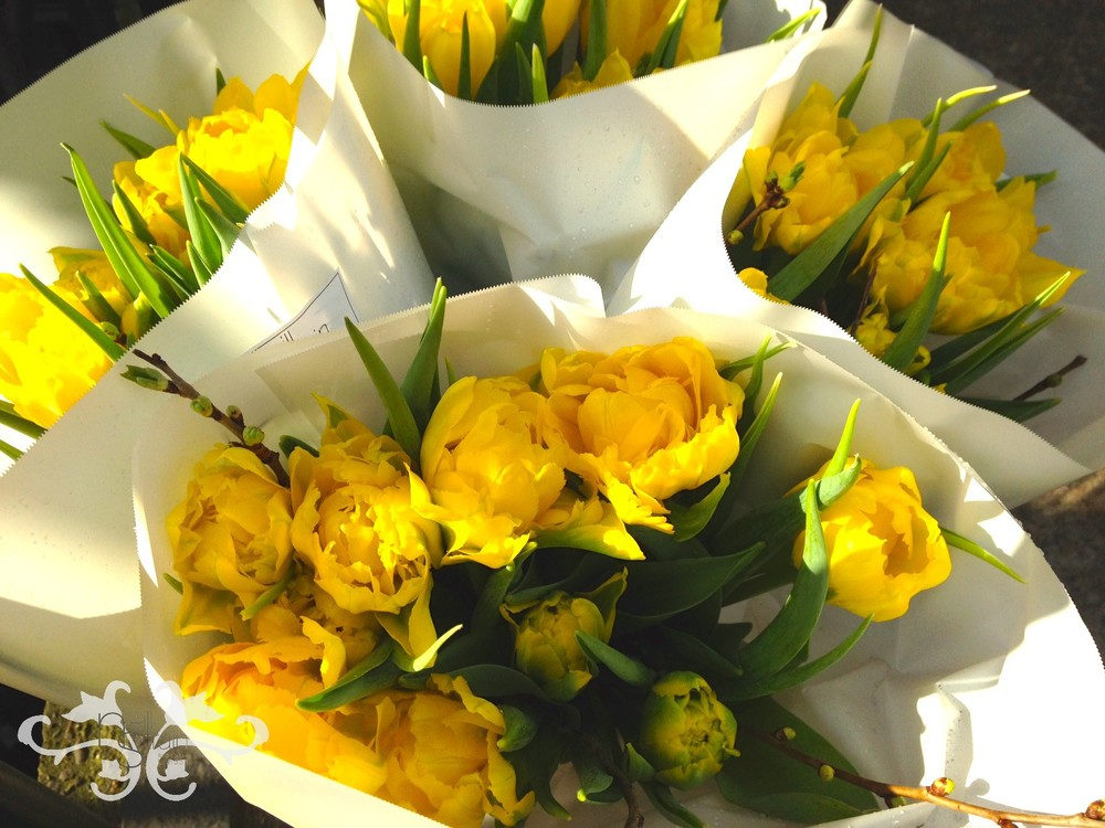 Yellow Double Tulips, a classc Easter flower choice.