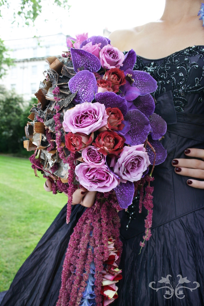 Neill Strain wedding bouquet purple.jpg