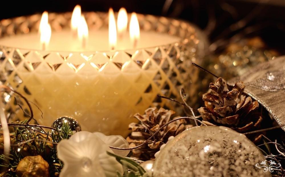 Neill Strain and Rachel Vosper bespoke Christmas candle