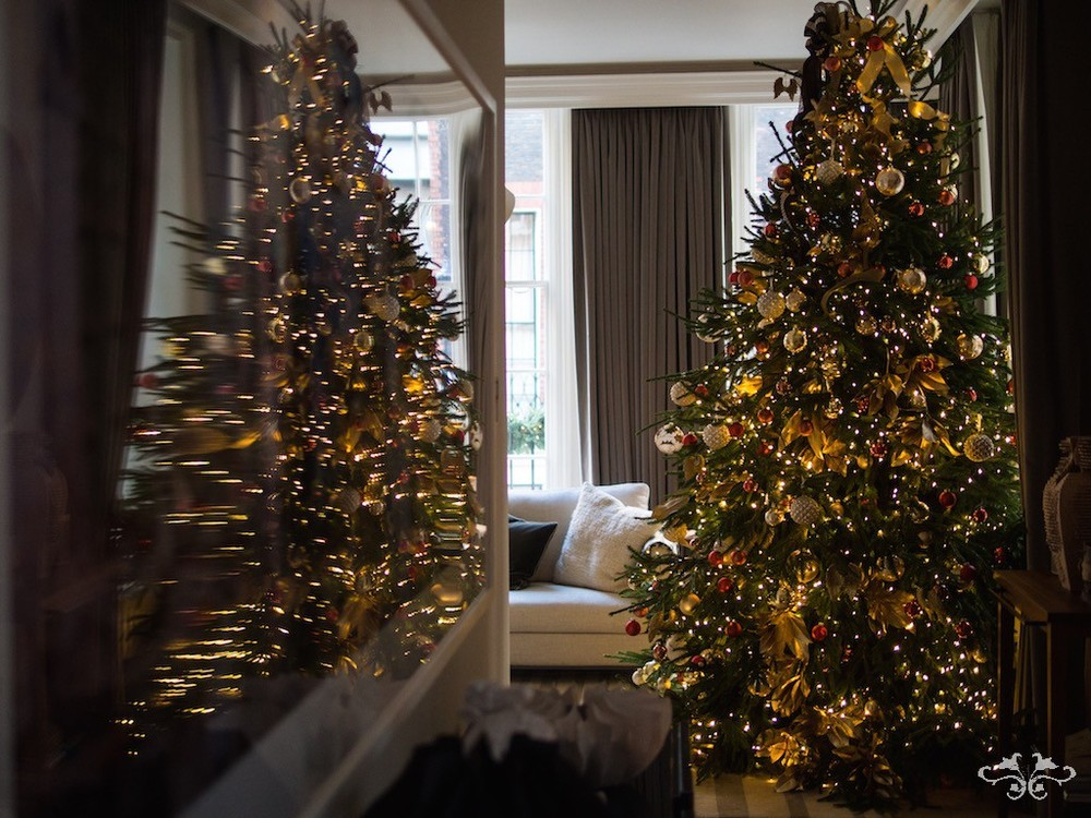Neill Strain Christmas Trees luxury gold