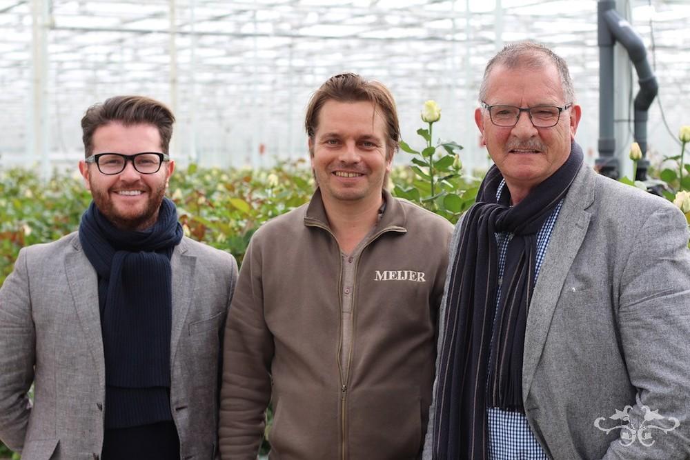 Neill Strain with John Meijer of Meijer Roses and Loek Van Eeden
