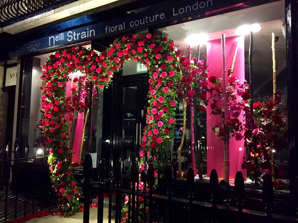 Neill Strain Floral Couture dressed for Valentine's Day Belgravia