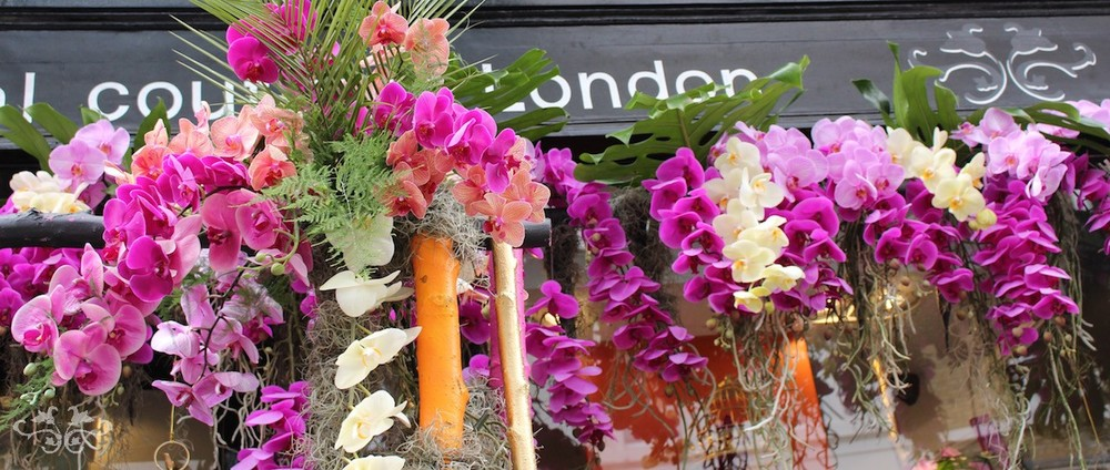 Orchid floral installation at Neill Strain Belgravia