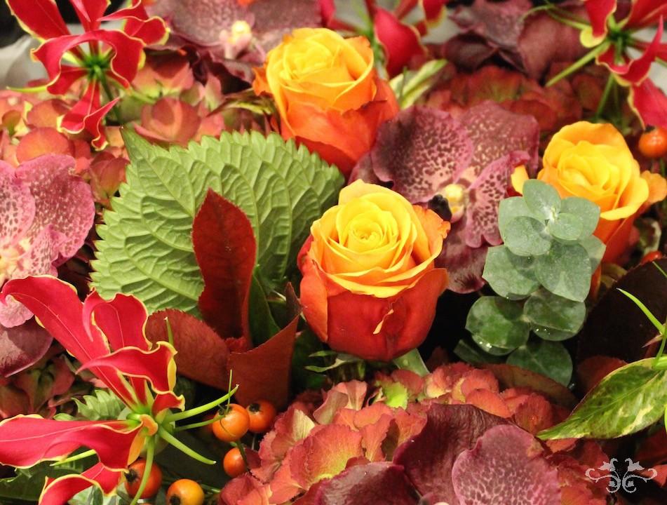Autumn flower arrangements Neill Strain Belgravia Knightsbridge