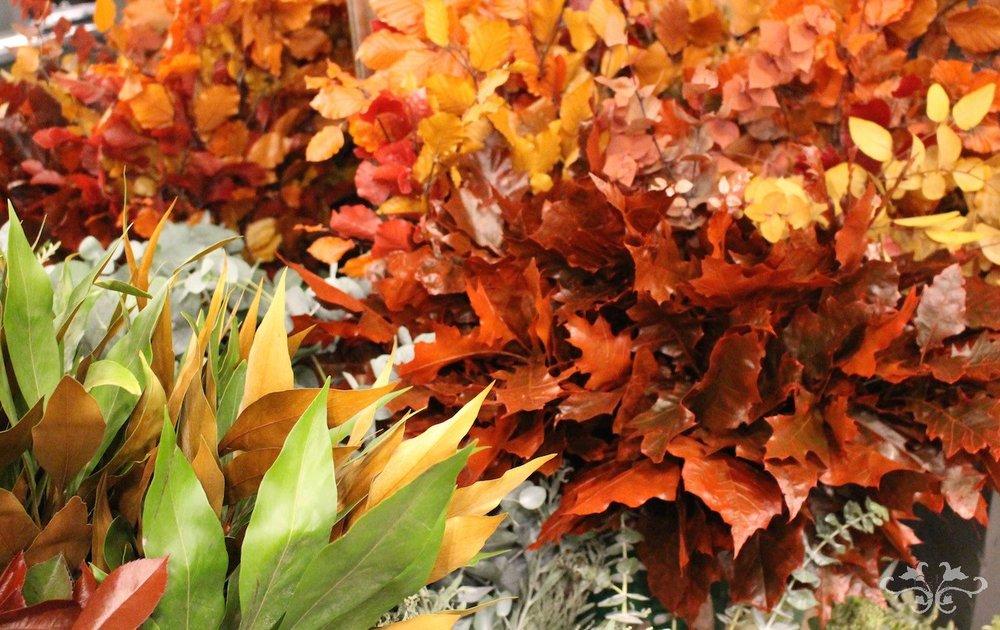 Autumn floral designs Neill Strain Belgravia Knightsbridge
