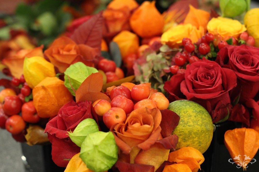 Neill Strain autumn floral designs Belgravia Knightsbridge