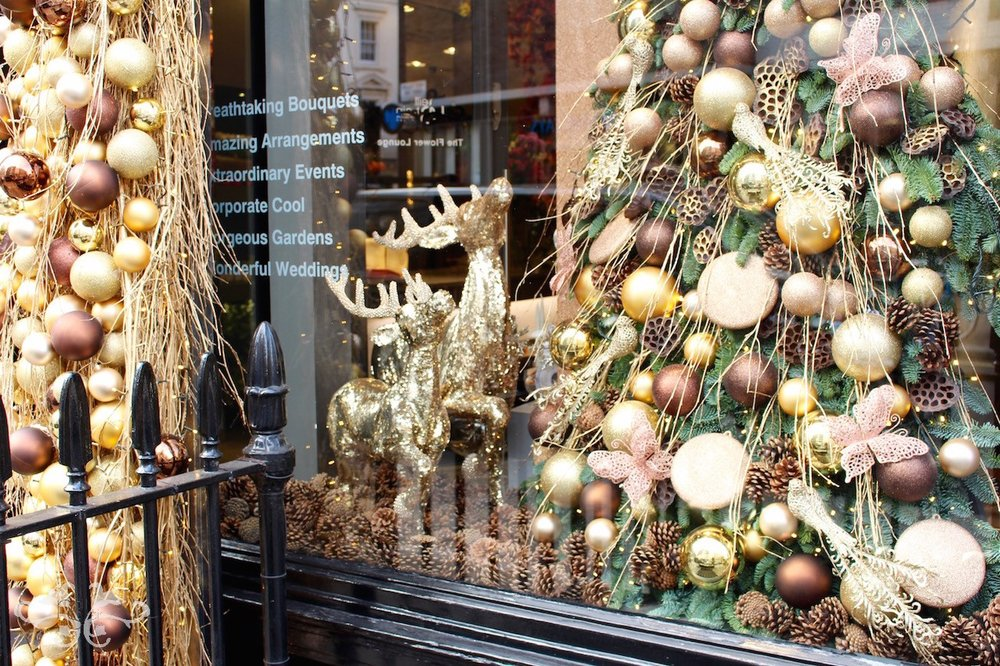 Belgravia Christmas Window display by Neill Strain