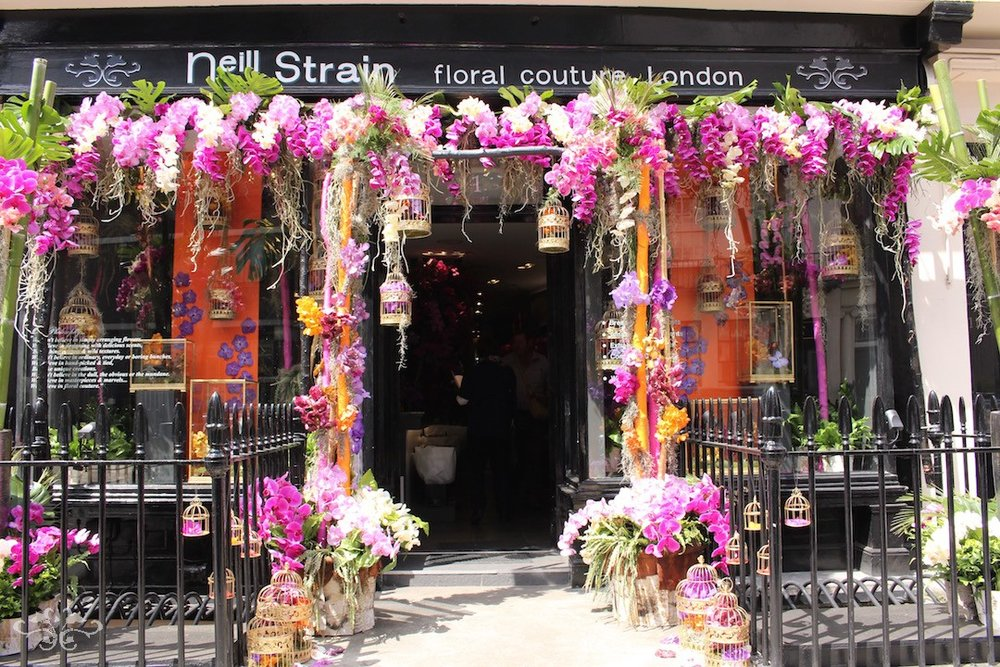 """For the Love of Orchids"" at Neill Strain Floral Couture London during Chelsea Flower Show 2016"