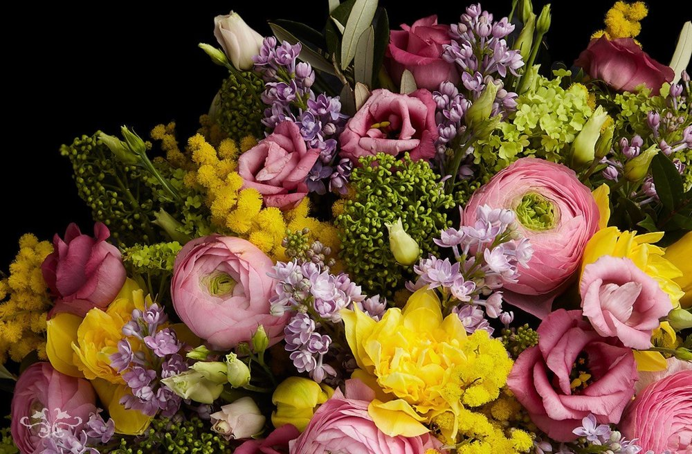 """Chelsea Collection"" of spring flowers by Neill Strain Floral Couture; order online for same day deliveries in central and greater London."
