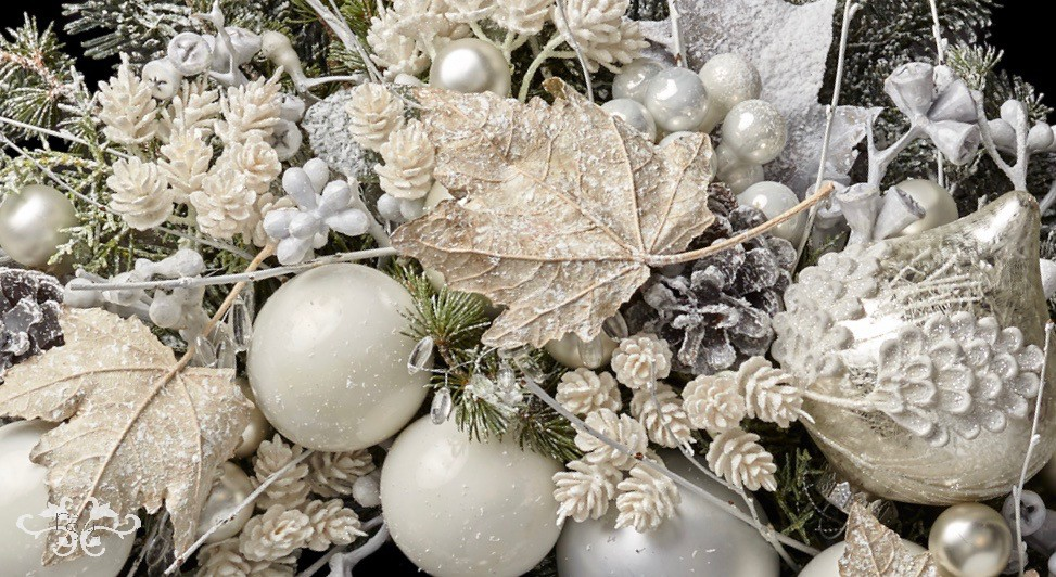 Luxury Christmas decor styled by Neill Strain Floral Couture