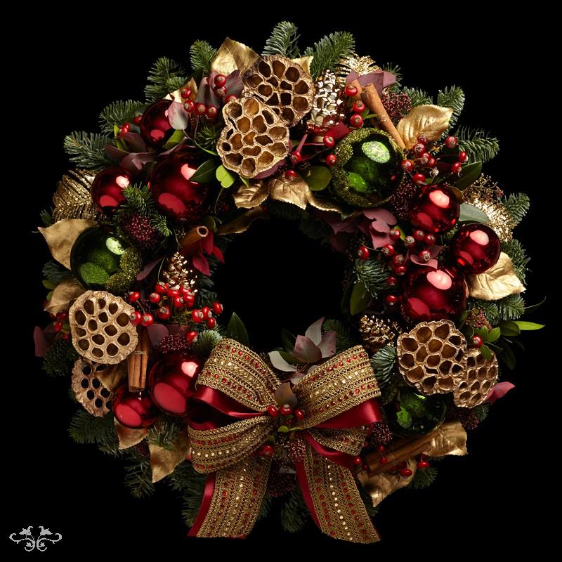 "Neill Strain Floral Couture Super Deluxe wreath  ""Nutcracker"""