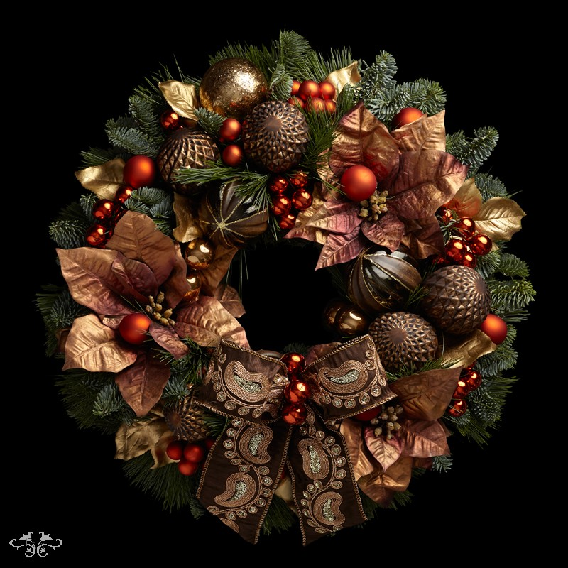 "Neill Strain Floral Couture Super Deluxe wreath ""Chocolate Box"""