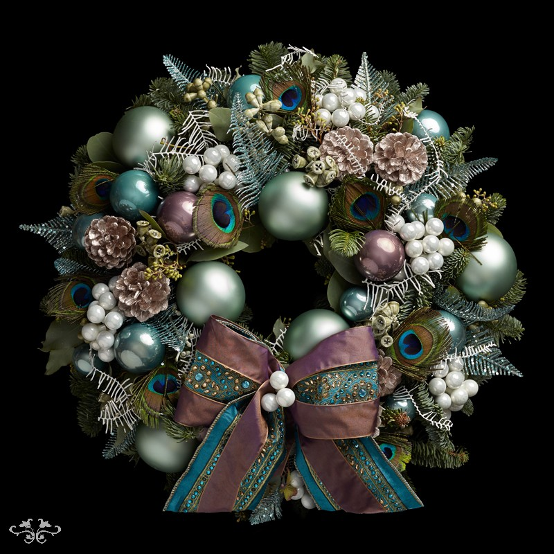 "Neill Strain Floral Couture Super Deluxe wreath  ""Winter Waltz"""