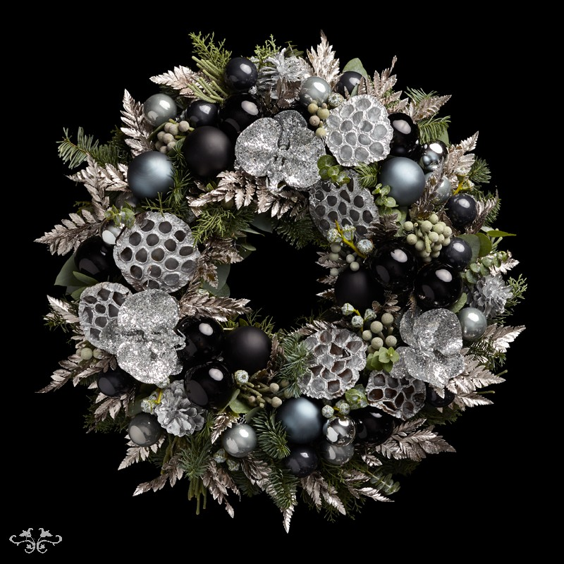 "Neill Strain Floral Couture Super Deluxe wreath ""Silent Night"""