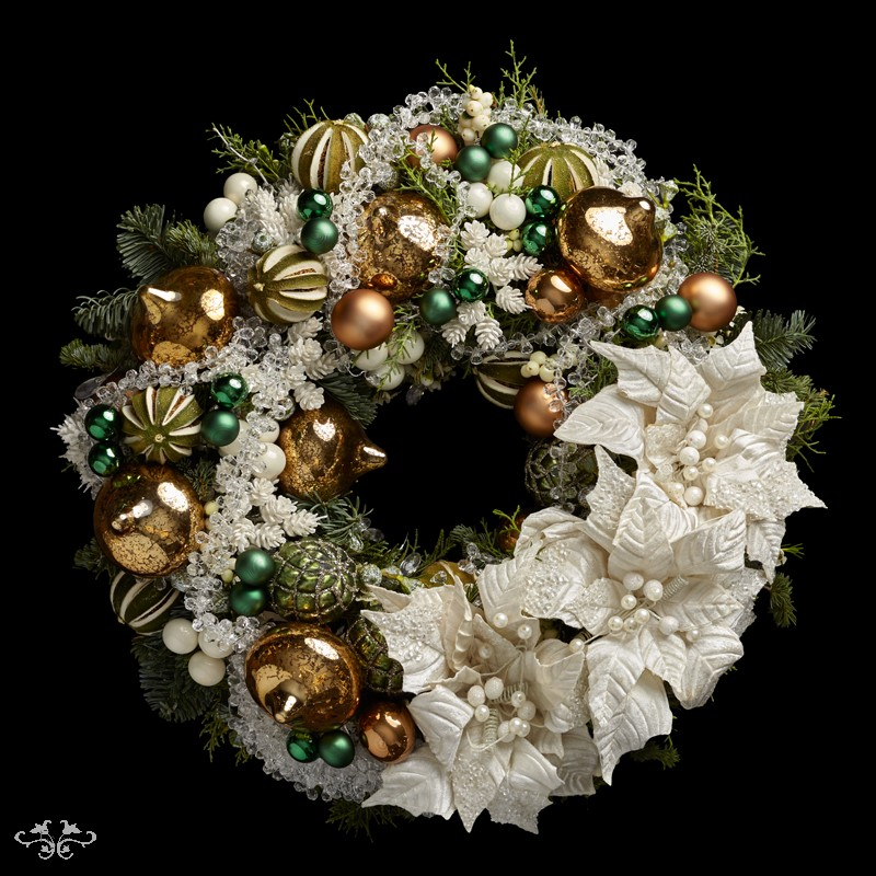 "Neill Strain Floral Couture Super Deluxe wreath  ""Wonderland"""