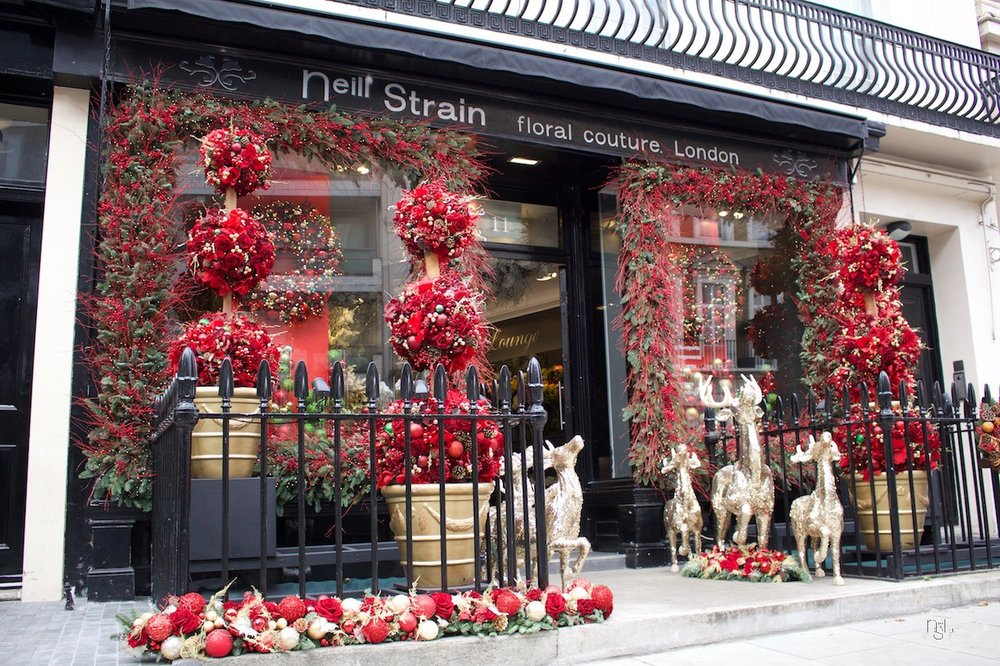 Neill Strain Floral Couture Belgravia Window