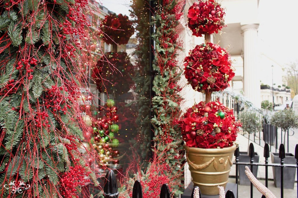 Belgravia Christmas Window by Neill Strain