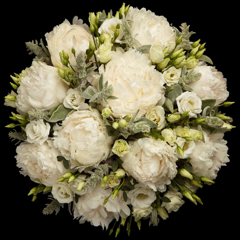 Hand Tied Bouquet White Peonies Neill Strain Floral Couture London